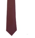 Corbata plana marrón