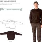 Jersey mod. seguridad con bordado en pecho y espalda