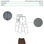 Pantalón de campaña con bordado en el bolsillo